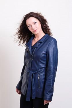 Skórzana kurtka na zamek Laura