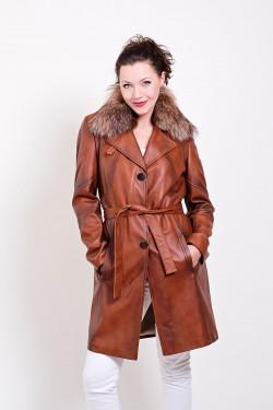 Klasyczny płaszcz skórzany